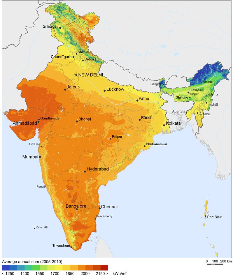 Sonnenatlas Indien